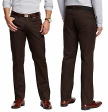 VINCE CAMUTO Cavalry Twill Stretch 5 Pocket Pants in Dk. Brown 32X32  NWT $98