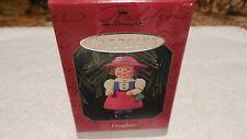 NIB Hallmark Xmas Ornament DAUGHTER 1998  Girl Dressed Up Hat & Purse