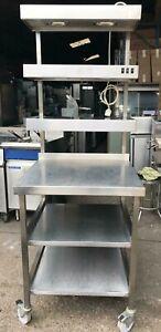 3 Tier Heated Gantry Stainless Steel 70x70x189 cm - Refurbished