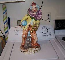 *Local Pickup* Vintage Capodimonte Italy Porcelain Clown Figure Figurine Statue