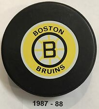 BOSTON BRUINS Small Logo Ziegler Official Trench Game Hockey Puck 1987-88