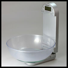 SILVERCREST Grey Glass Digital Kitchen Scale - Graduation 1g / 0.1oz - Max 5kg