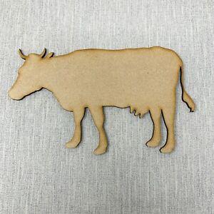 Cow Wooden MDF Shape Sizes 10cm - 40cm Farm Animal Creatures Craft