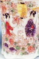 2 Geisha Girl Porcelain Chocolate Cups Mugs Parasol Made Japan Vintage BB