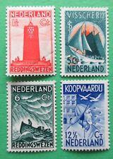 Nederland NVPH 257 - 260 Zeemanszegels ongebruikt 1933