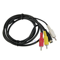 5FT S-Video to 3 RCA Male AV Composite Cable - NEW