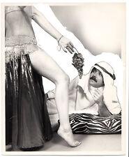 Vintage` image Sheik belly dancer press photo? grapes sexy leg feet risque