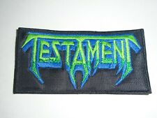 TESTAMENT THRASH METAL EMBROIDERED PATCH