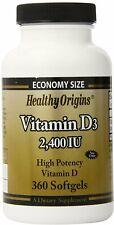 Vitamin D3, Healthy Origins, 360 softgels 2400 IU