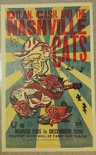 Bob Dylan & Johnny Cash Poster Nashville Cats Hatch Print, Jon Langford