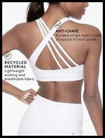 Athleta NWT Women's Run Free Bra Size Med Color White