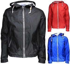 Mens Soul Star Shower Proof Windbreaker Jacket Hooded Rain Coat Zip Through Top