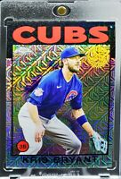 2021 Topps Chrome Silver Pack 1986 Mojo Refractor Kris Bryant Chicago Cubs Nice!