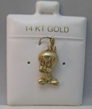ADORABLE TWEETY BIRD 14K Y. GOLD PENDANT ON CUSHIONED JEWELRY CARD SIGNED MO **