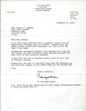 F Van Wyck Mason Signed 1966 Typed Letter & Cassava Pie Recipe