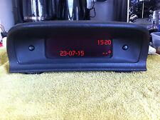 Peugeot 307 HDI-Pantalla Pantalla digital LCD reloj/radio parte no 9646652577