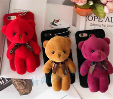 1PC Bear Doll Mobile Phone Accessories Plush Toys Chain Bag Pendant Collection