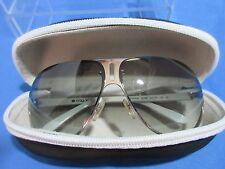 Vogue Women's Aviator Sunglasses VO 3723-S Gray Tinted Lense White Chrome Frame