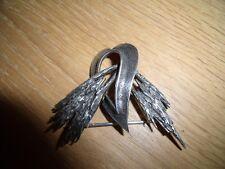 Silver Hallmarked Heart Brooch
