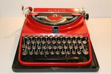 C1920'S OLIVETTI Ico SCARCE RED TYPEWRITER