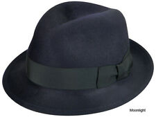 $115 Bailey Hollywood RIFF Polished Tino Wool Hat Fedora Moonlight  LARGE