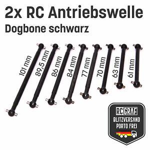 RC Dogbone Achse Antriebswelle Antriebsknochen schwarz 61 63 70 77 ... 89,5 101