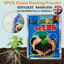5Pcs Rapid Growth Rooting Powder Agent for Fruit Tree Cutting Flower Plants UK