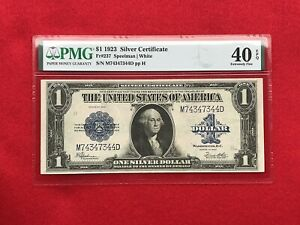 FR-237  1923 Series $1 One Dollar Silver Certificate *PMG 40 EPQ Extremely Fine*