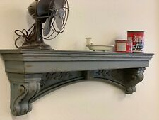 60 inches farmhouse mantle shabby chic floating shelf vintage style mantle
