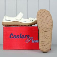 Ladies Real Leather Coolers Premier Summer Sandals Shoes Beige 3-7