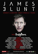 JAMES BLUNT 2014 Moon Landing Australian Tour Poster A2 Back To Bedlam ***NEW***