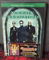 Matrix Reloaded DVD Disco Singolo Keanu Reeves Nuovo Sigillato