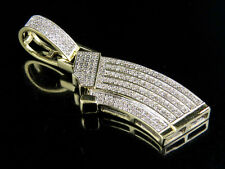 "Men's 10K Yellow Gold Real Diamond Custom Ak Gun Clip Charm Pendant .40 CT 1.7"""