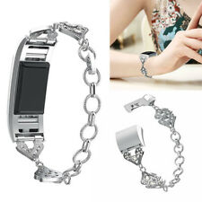 Lady Bling Stainless Steel Watch Band Bracelet Wristband For Fitbit Charge 2