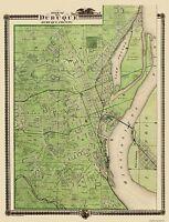 Dubuque Iowa Landowner - Shober 1875 - 23 x 30