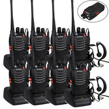 8pcs Baofeng BF-888S Walkie Talkie UHF 400-470MHZ CTCSS DCS 2-Way Radio 16CH 5W