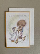 Vintage Hallmark Betsey Clark Duck Hello Greeting Card Paper Ephemera Unused
