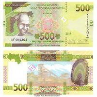 Guinea 500 Francs 2018 (2019) P-New Banknotes UNC