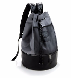 GENUINE VERSACE BLACK MENS BACKPACK RUCKSACK GYM WEEKEND TRAVEL BAG