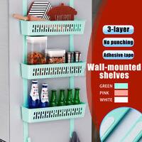Wall Mounted Kitchen Storage Rack Vegetable Fruit Cart Holder Shelf Hanging DIY