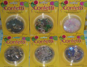 Christmas Holiday Confetti Snow Flakes, Silver Bells, Stars, Hanukkah, Scrapbook
