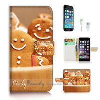 ( For iPhone 7 ) Wallet Case Cover P2869 Love Cookie