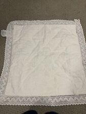 2 New Simply Shabby Chic Euro Pillow Sham White Crochet Edge