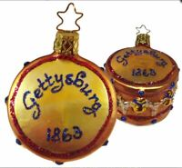 Gettysburg Drum Ornament by Inge Glas Of Neustadt Germany Christmas New in Box