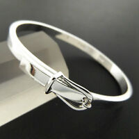 Bangle Bracelet 925 Sterling Silver S/F Solid Ladies Belt Buckle Cuff Design