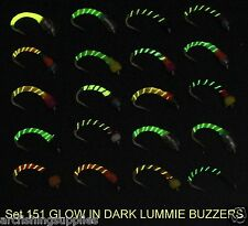 TROTE Mosche Glow resina epossidica Cicalini trota FLY Fishing Flies Set 151-10 Mulinello Canna Per