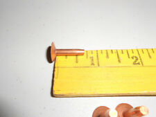 Copper Rivet's & Burr's Stirrup Buckle and other Thick Leather Repair, 6 of each