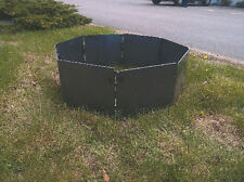 "CAMPFIRE PORTABLE FIRE PIT RING /  INSERT 32"" (BLANK) OCTAGON   STEEL 8 PANELS"