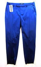 Apriori pantaloni 38 blu brillante Poliestere 7/8 nuova con etichetta