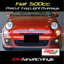 2011-2015 Fiat 500 Fog Light EURO JDM Yellow Overlays TINT